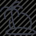 island, travel, ocean, palm, sea, beach