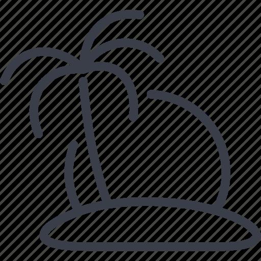 beach, island, ocean, palm, sea, travel icon
