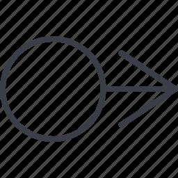arrow, arrows, move, right, sea icon