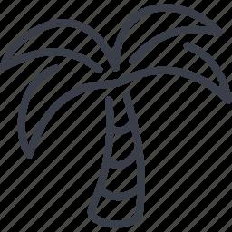 beach, palm, sea, summer icon
