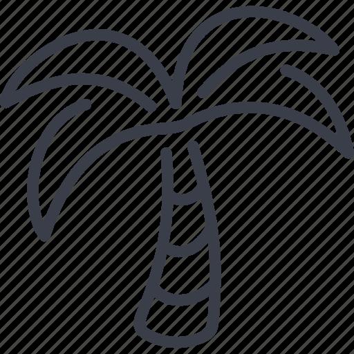 Beach, palm, sea, summer icon - Download on Iconfinder