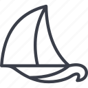 boat, ocean, sea, ship, travel, yacht icon
