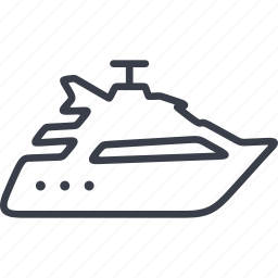boat, cruise, marine, sea, ship, transportation, travel icon
