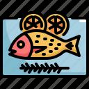 cooking, fish, food, lemon, meal, seafood