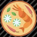food, goong, soup, tom, shrimps, thai, yum icon