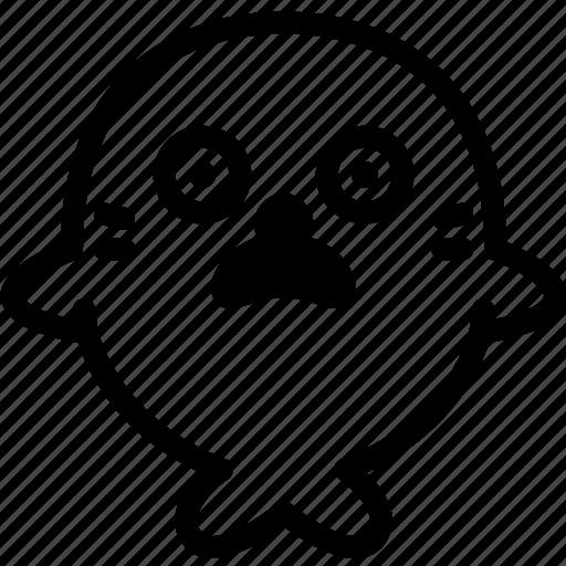 emoji, emotion, expression, face, feeling, seal, shocked icon