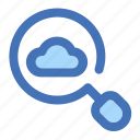 cloud, data, find, search, storage icon