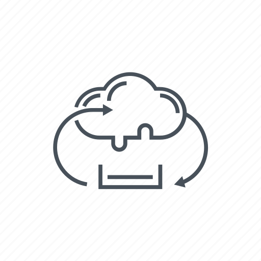 cloud, computing, data, download, exchange, file, synchronization icon