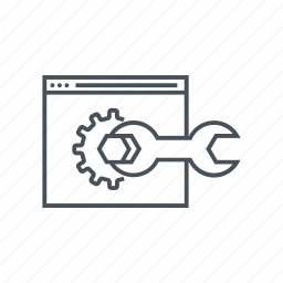 cog, fix, gear, optimization, tool, website, wrench icon