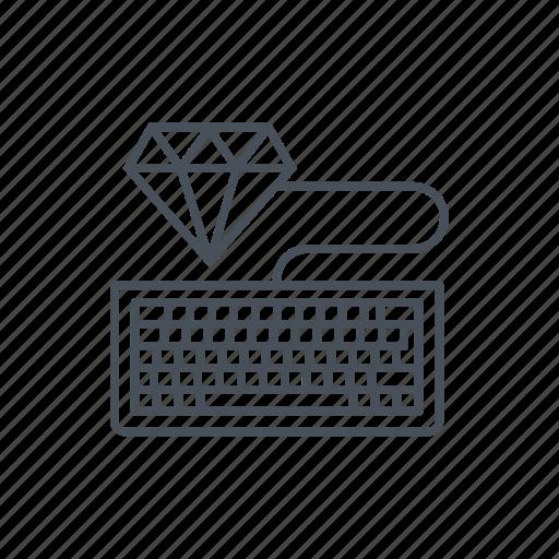 clean code, coding, development, keyboard, management, media, programming icon