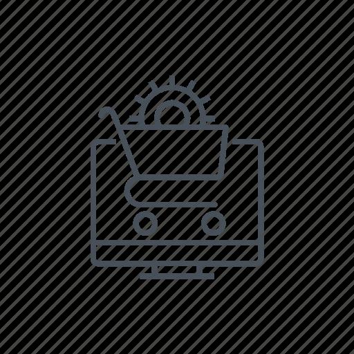 commerce, internet, market, optimisation, shopping cart, store, web icon