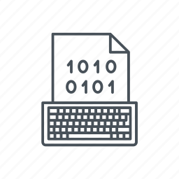 binary code, coding, data, interface, keyboard, management, numbers icon