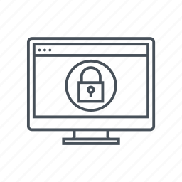computer, connect, encryption, internet, lock, security, shield icon