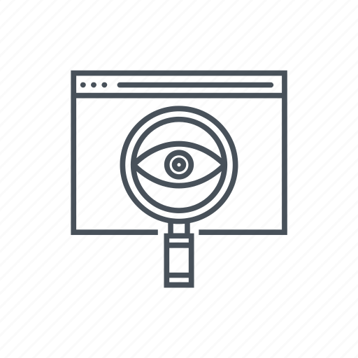 eye, information, internet, network, optimization, search engine, see icon icon