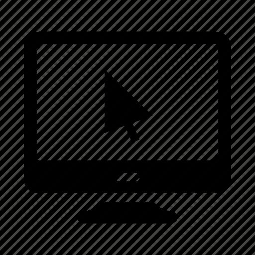 arrow, computer, control, screen, seo icon
