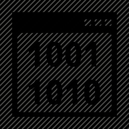 binary, code, interface, seo icon