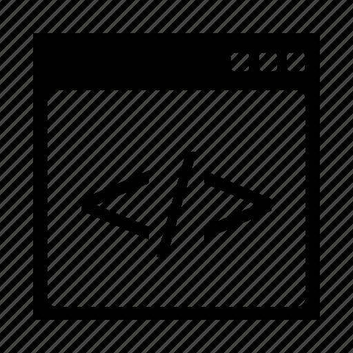 code, interface, seo icon