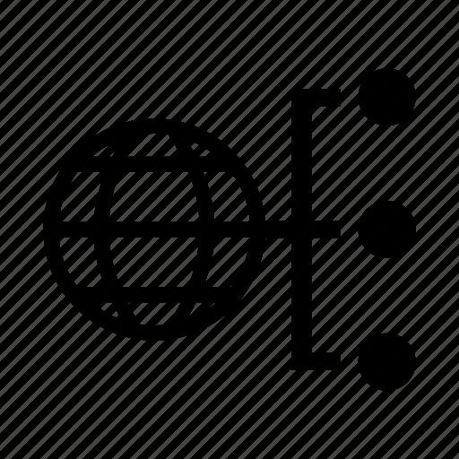 connection, globe, seo, world icon