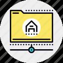folder, hosting, internet, network icon