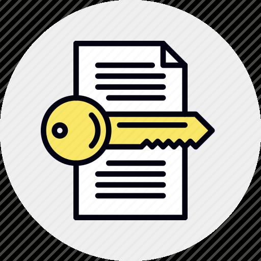 file, key, keyword, search icon