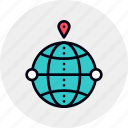 geo, global, local, seo, targeting icon