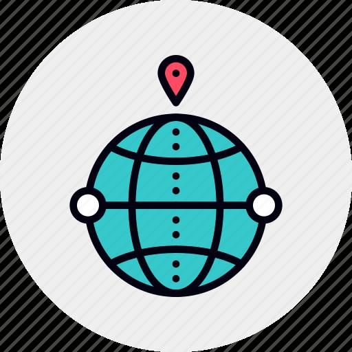 geo, global, local, seo, targeting icon