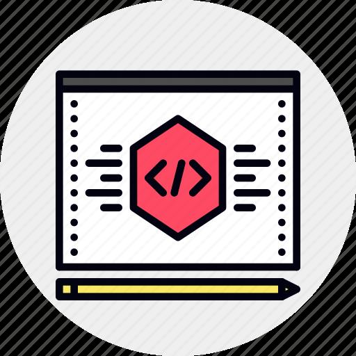 code, optimization, script, seo icon