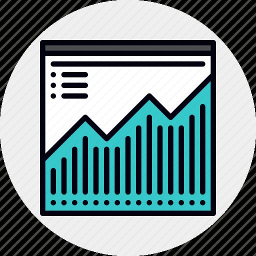 analytics, chart, seo, web icon