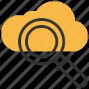cloud, search, find, internet, magnifier, online, storage