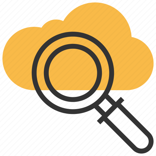 cloud, find, internet, magnifier, online, search, storage icon