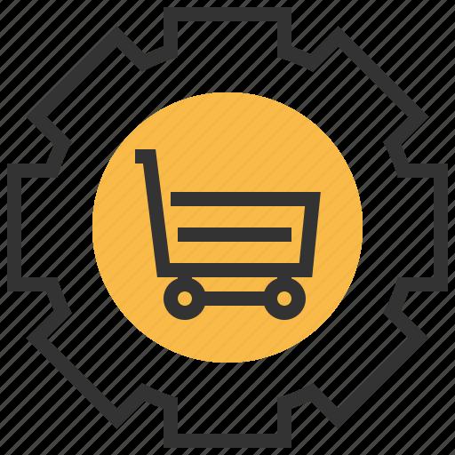 commerce, e, ecommerce, finance, online, optimization, shopping icon