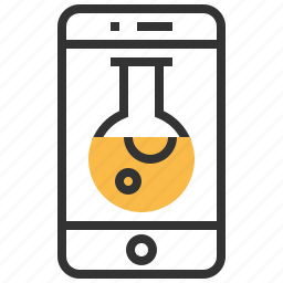 device, experiment, phone, research, science, smartphone icon