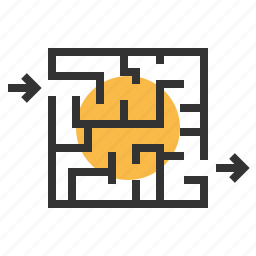marketing, maze, optimization, puzzle, solution, solutions, strategy icon