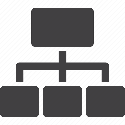 network, server, sitemap, structure icon