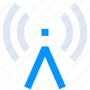 antenna, hotspot, network, radio, signal icon