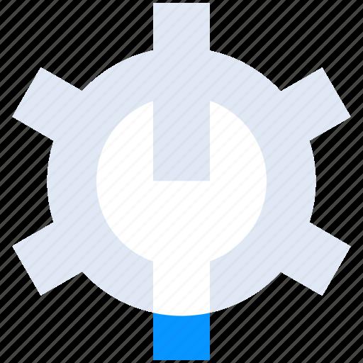 gear, maintenance, repair, settings, system icon