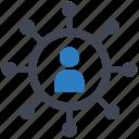network, social media, user icon