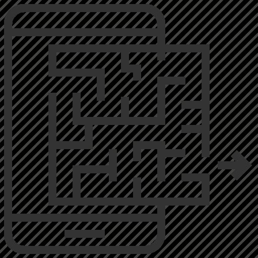 business, engine, maze, optimization, search, seo, solution icon