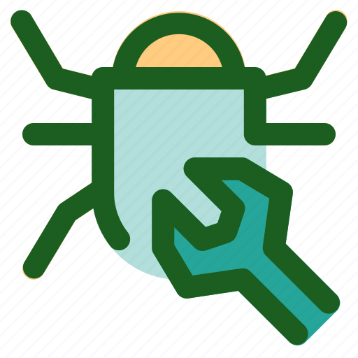 bug, fix, marketing, networking, online icon
