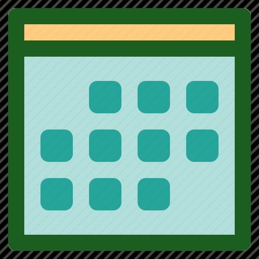Marketing, calendar, networking, event, online icon