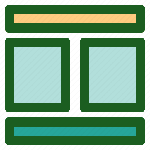 column, layout, marketing, networking, online, two icon