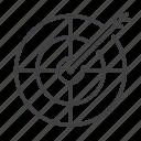 arrow, dart, dartboard, goal icon