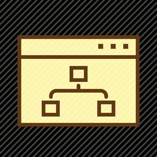 flow chart, hierarchy, multiple inheritance, schema, seo, site map optimization, structure icon