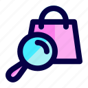 bag, exploration, find, search, shop, store icon
