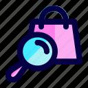 bag, exploration, find, search, shop, store