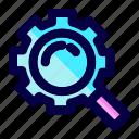exploration, find, gear, machine, repair, search