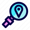 exploration, find, location, place, search icon