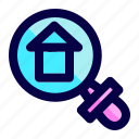exploration, find, home, house, search icon