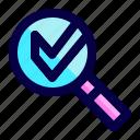 check, exploration, find, loupe, mark, search icon