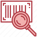 barcode, find, magnifying, glass, search, loupe